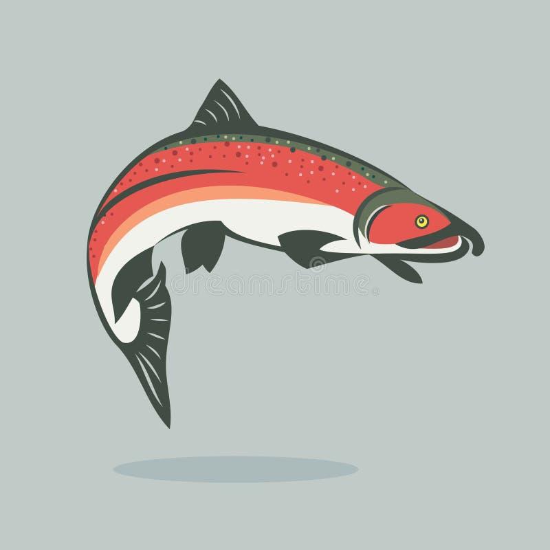 Pesci di color salmone royalty illustrazione gratis