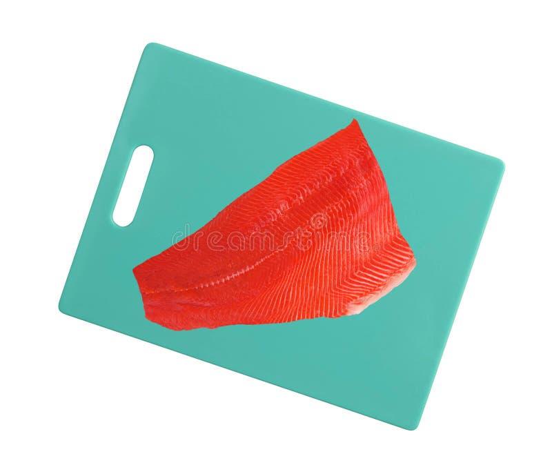 Pesci di color salmone grezzi freschi immagine stock