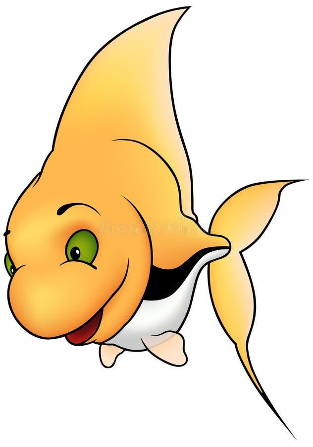 Pesci di corallo gialli illustrazione di stock