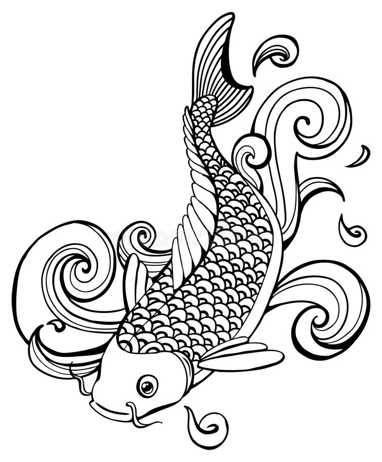 Pesci di Koi illustrazione di stock