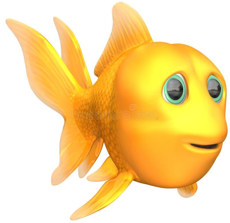 Pesci dorati illustrazione di stock