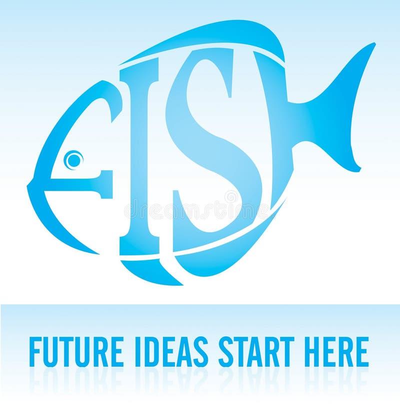 PESCI - le idee future cominciano qui illustrazione vettoriale
