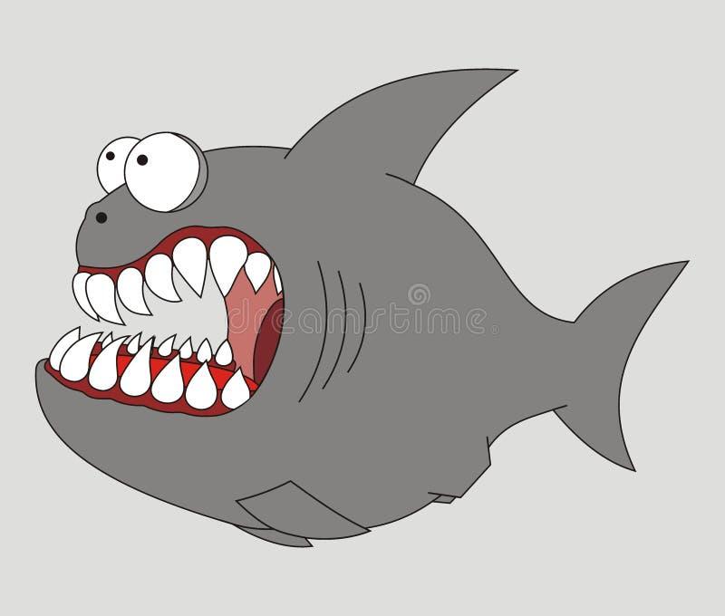 Pesci predatori illustrazione vettoriale