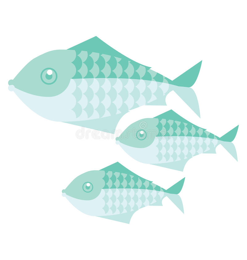 Pesci semplici illustrazione di stock
