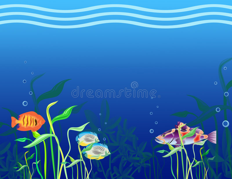 Pesci tropicali. royalty illustrazione gratis