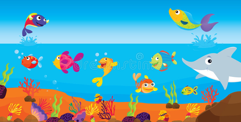 Pesci tropicali illustrazione vettoriale