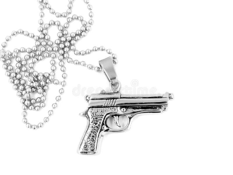 Pescoço de prata do revólver da colar imagem de stock royalty free