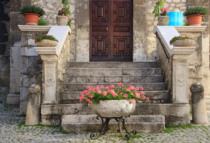 Pescocostanzo. Is a comune and town in the Province of L'Aquila in the Abruzzo region of Italy royalty free stock images