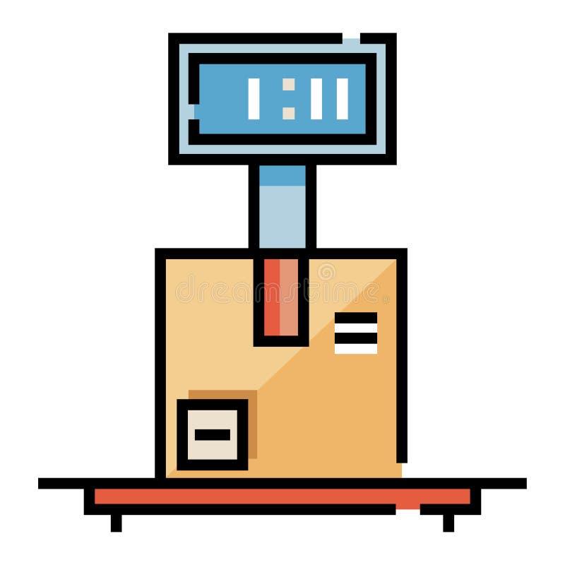 Pese a ilustração de LineColor do pacote ilustração stock