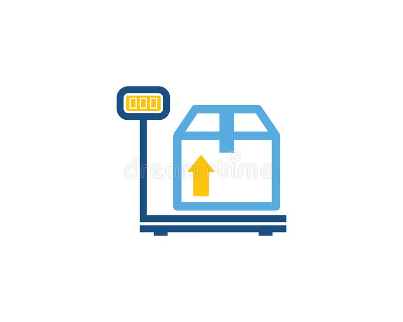 Pese Logo Icon Design logístico ilustração do vetor
