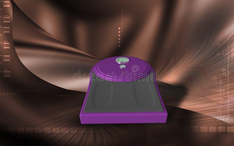 Pese a máquina ilustração do vetor