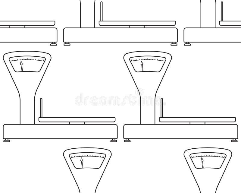 Pese o teste padrão das escalas ilustração stock