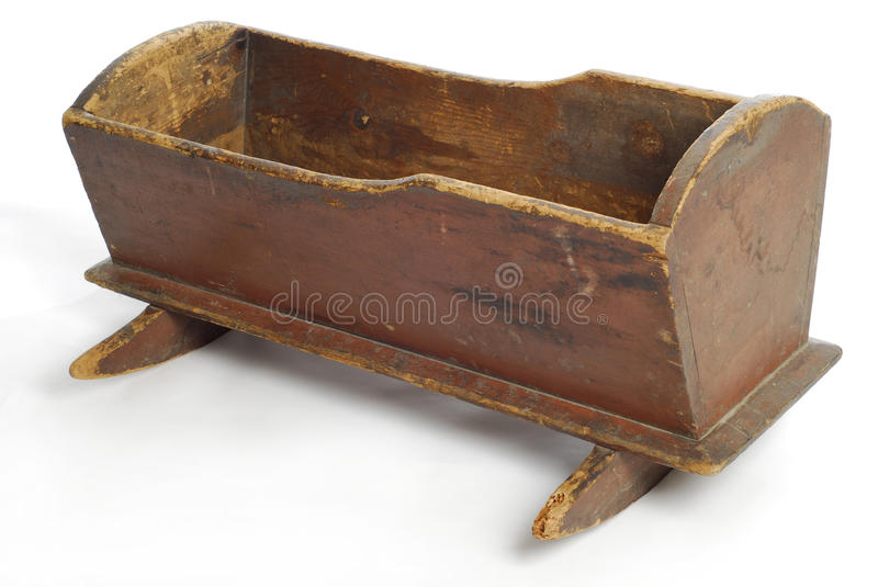 Pesebre antiguo del bebé imagen de archivo. Imagen de aislado - 15764079