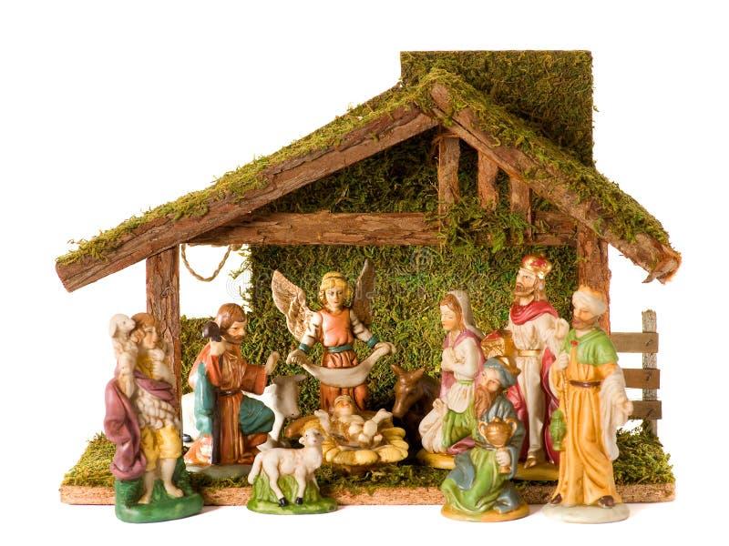 Pesebre de la Navidad fotografía de archivo
