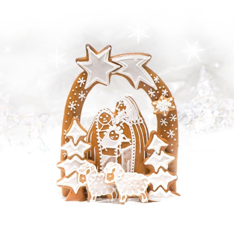 Pesebre de la Navidad imagenes de archivo