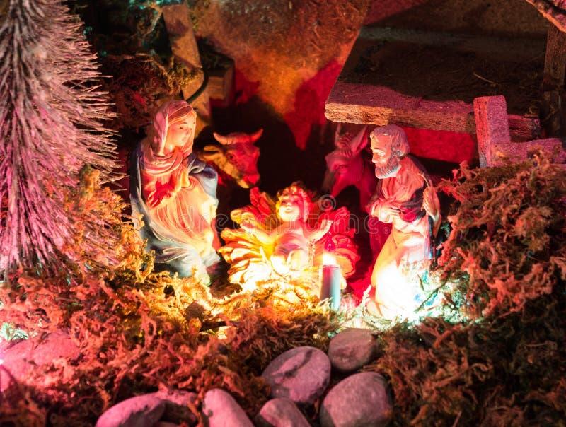 Pesebre de la Navidad imágenes de archivo libres de regalías