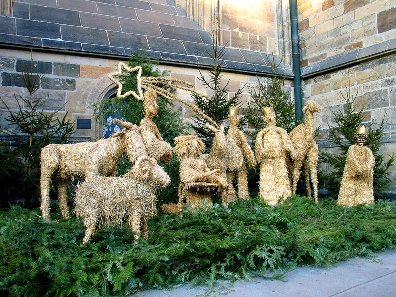 Download Pesebre De La Navidad De La Paja Foto de archivo - Imagen de catedral, navidad: 7276528