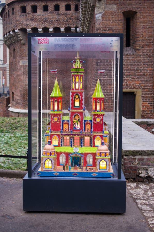 Pesebre de la Navidad en Kraków, Polonia imágenes de archivo libres de regalías