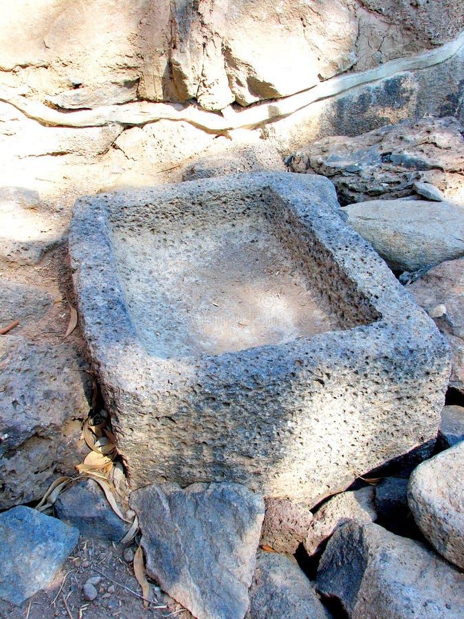 Pesebre de piedra foto de archivo libre de regalías