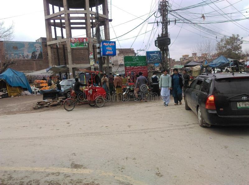Peshawar G Chowk takal del camino de T foto de archivo
