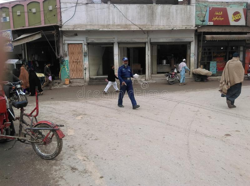 Peshawar G Chowk takal del camino de T fotografía de archivo