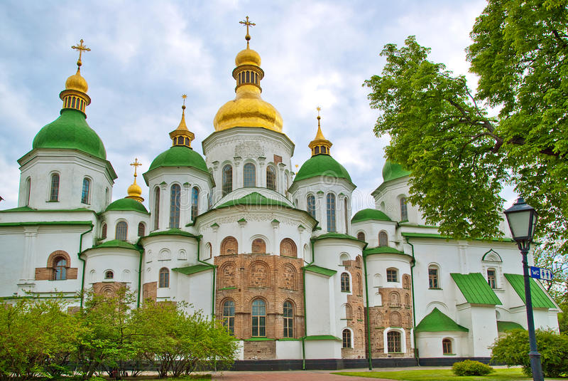 Peshtersk lavra cathedral, Kiev, Ukraine stock photo