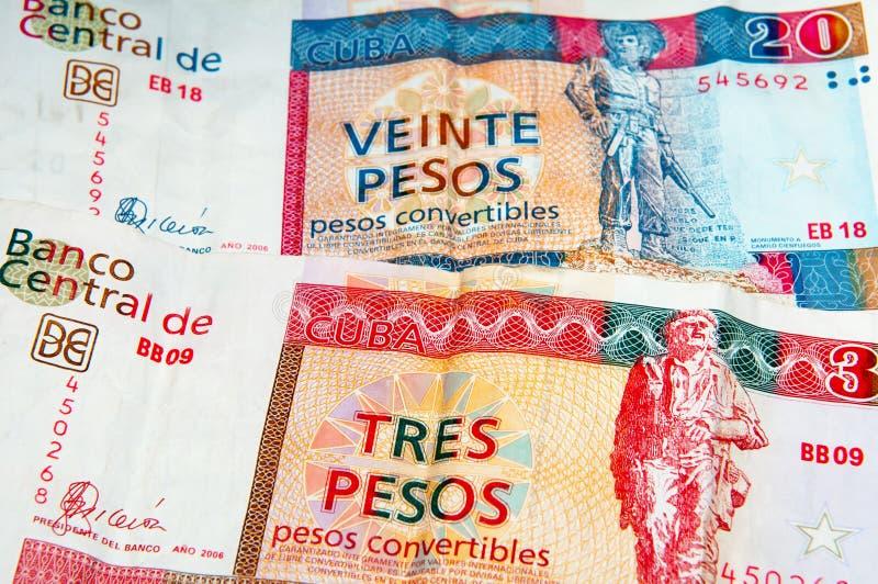 Pesi convertibili cubani fotografie stock libere da diritti