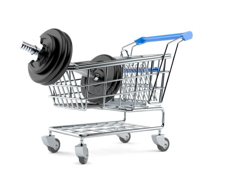 Peso com carrinho de compras ilustração do vetor