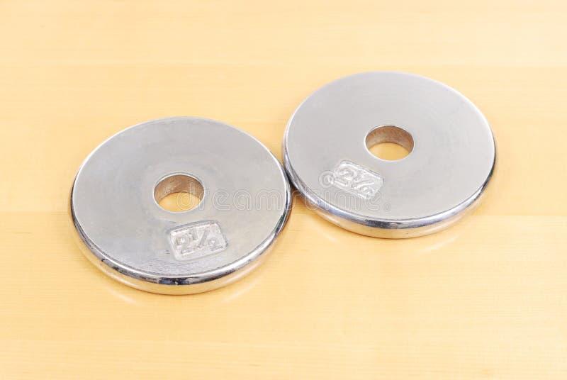 Peso del disco de 2.5 libras imagen de archivo libre de regalías