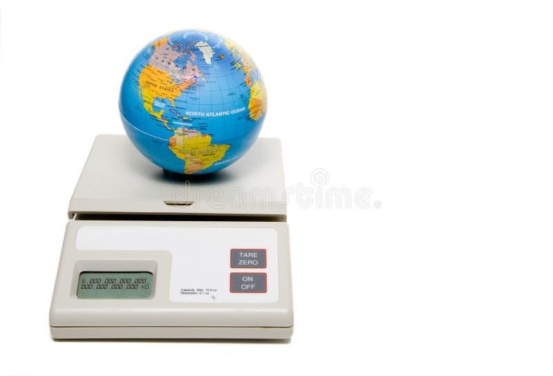 Peso del mondo fotografia stock