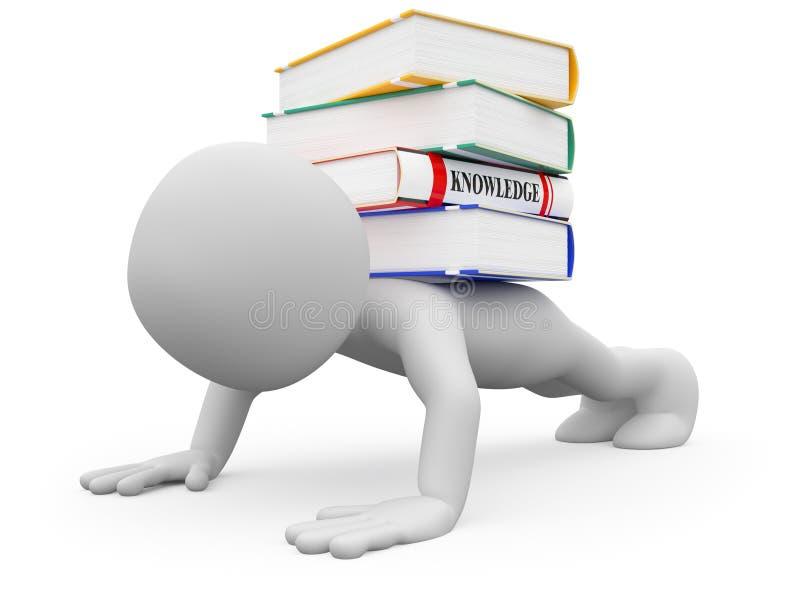 Peso di conoscenza illustrazione di stock