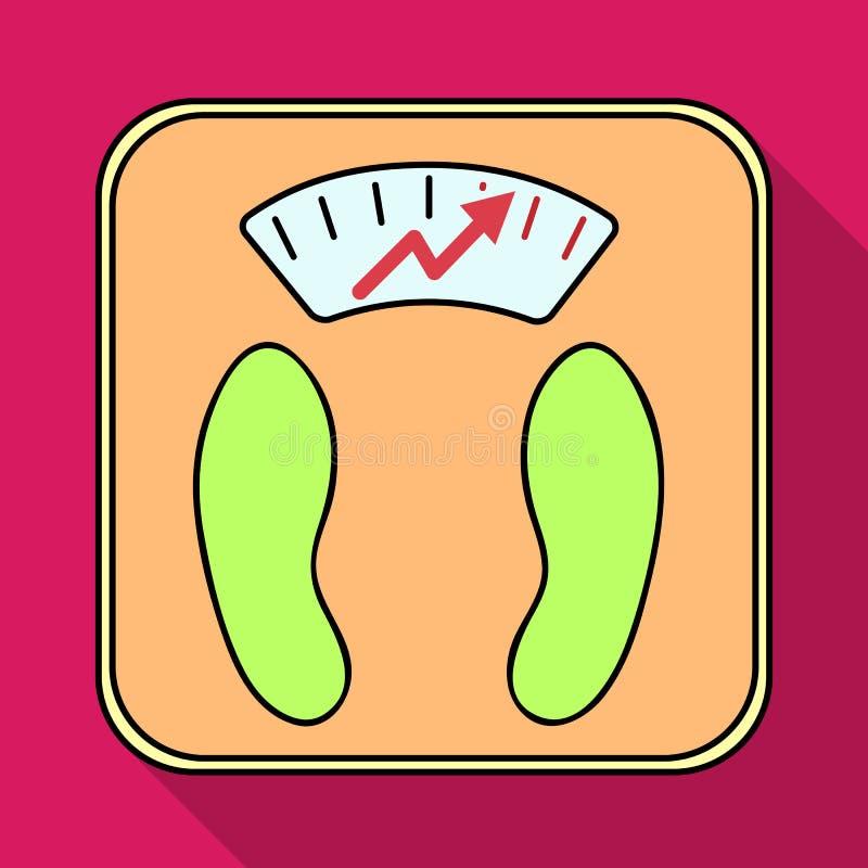 Peso di manifestazione delle scale scale per i diabetici Singola icona del diabete nell'illustrazione piana delle azione di simbo royalty illustrazione gratis