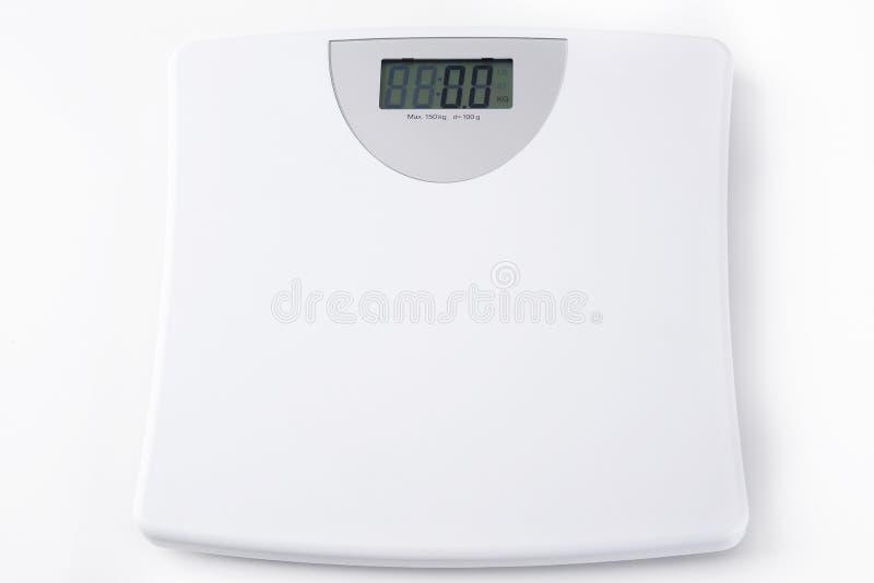 Peso digital branco da escala foto de stock