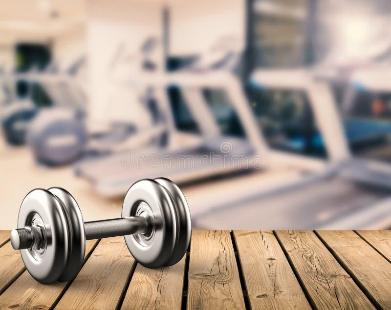 Peso do metal com fundo do gym foto de stock royalty free
