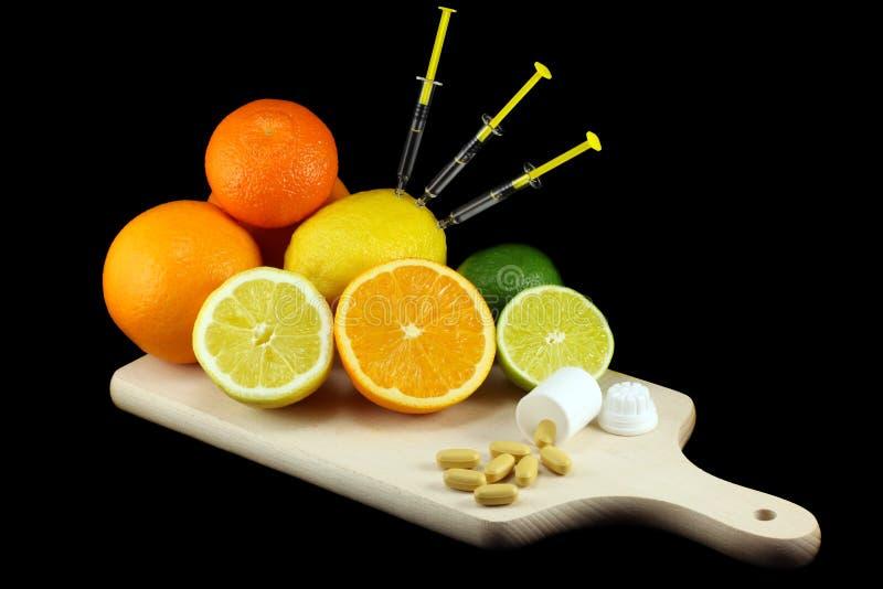 Peso flojo - consuma las frutas foto de archivo