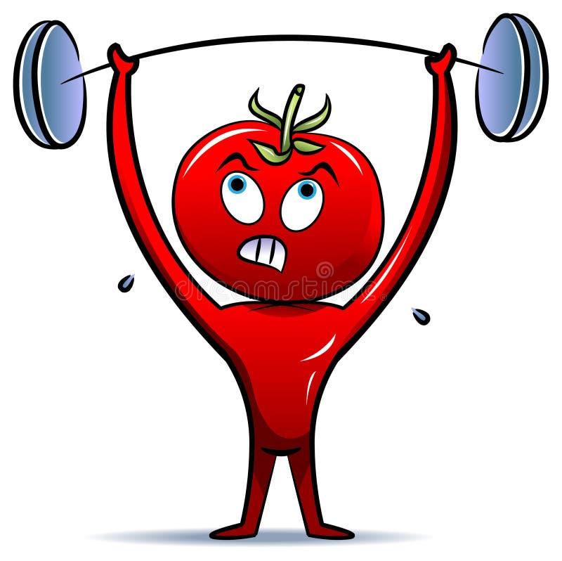 Peso-levantador del tomate libre illustration