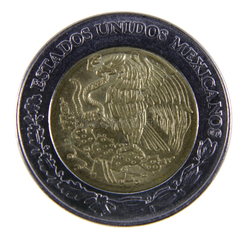 Peso-Münzen-Nahaufnahme lizenzfreie stockbilder