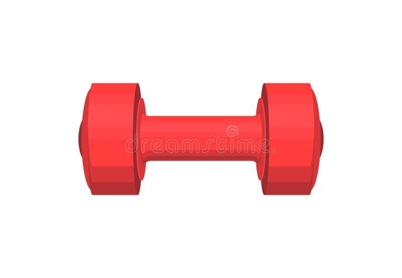 Peso pesado vermelho com o punho cilíndrico redondo ilustração royalty free