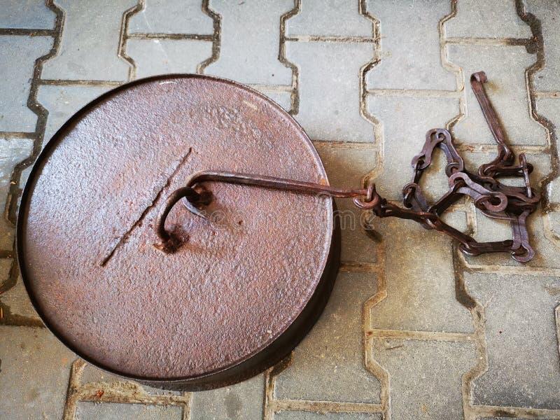 Peso pesado y accesorio del hierro redondo imagen de archivo