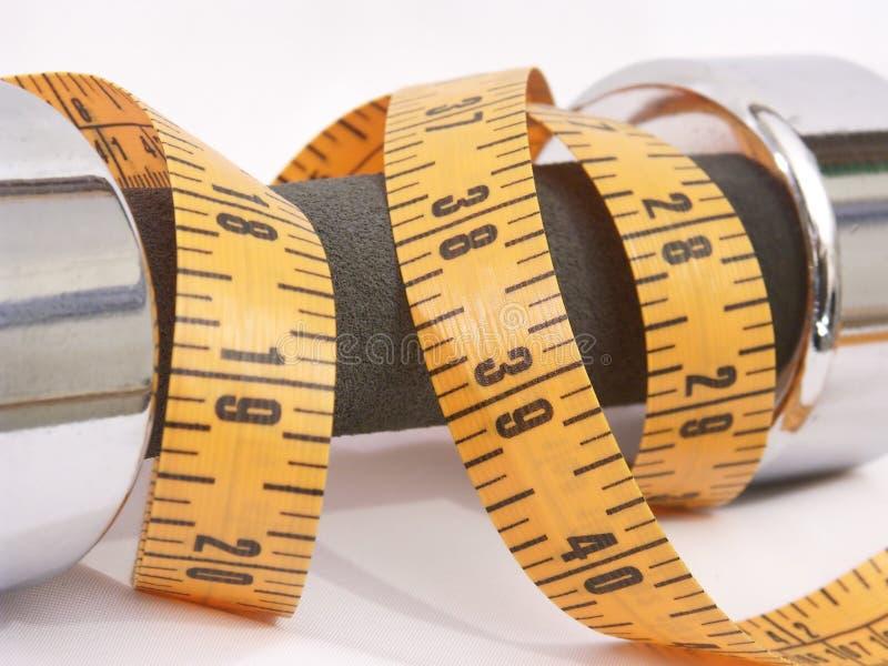 Peso y medida imagen de archivo