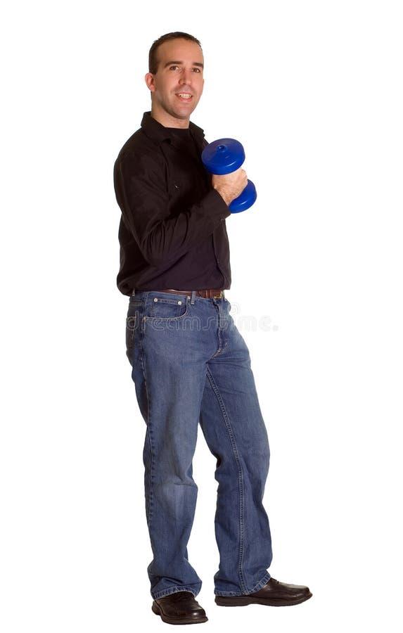 Download Pesos De Elevación Del Hombre Foto de archivo - Imagen de respiración, músculos: 7289848