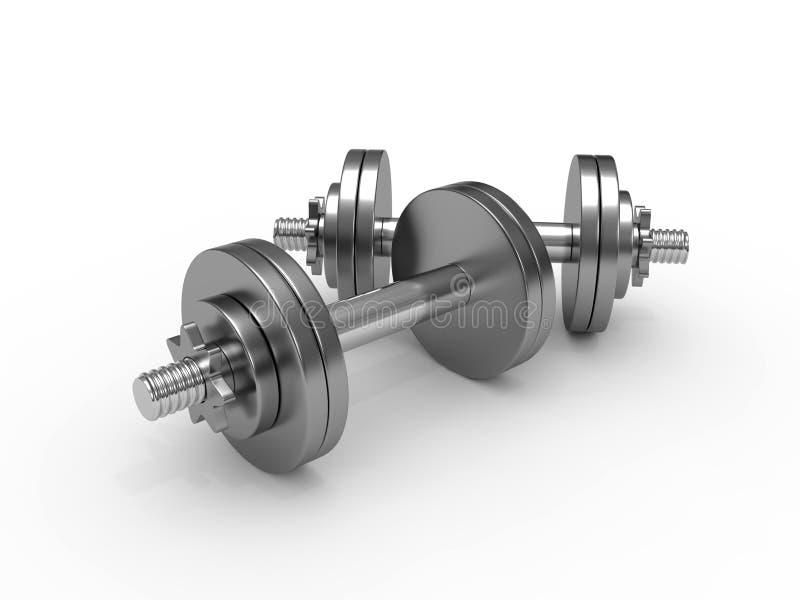 Pesos de la pesa de gimnasia stock de ilustración