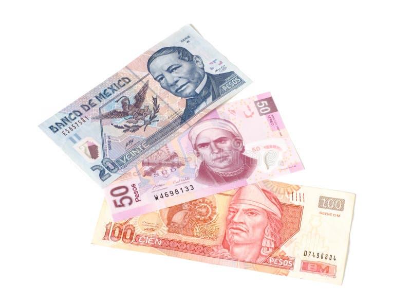 Pesos mexicains photographie stock libre de droits