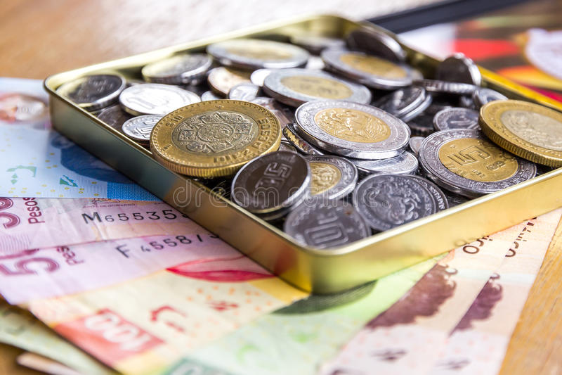 Pesos mexicains photo libre de droits