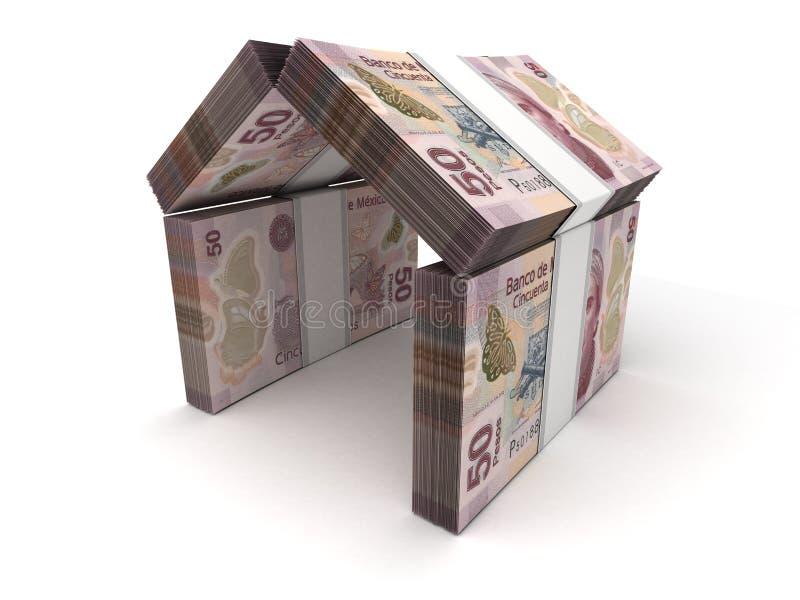 Pesos mexicains de concept de Real Estate illustration de vecteur