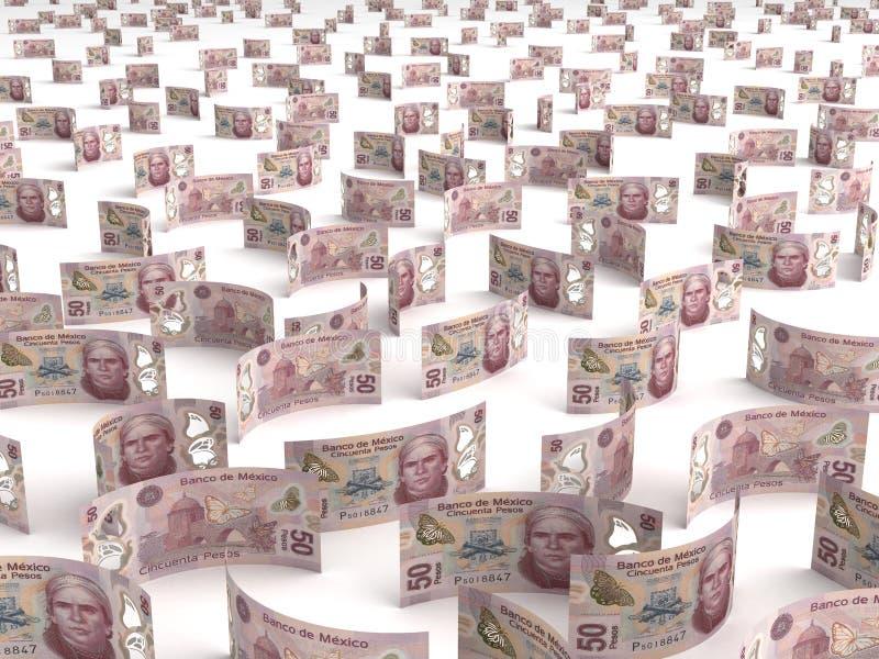 Pesos mexicains dispersés illustration libre de droits