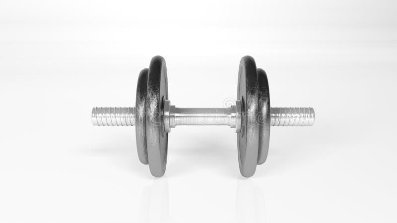 Pesos, peso ajustável, equipamento do gym isolado na vista branca, dianteira fotografia de stock
