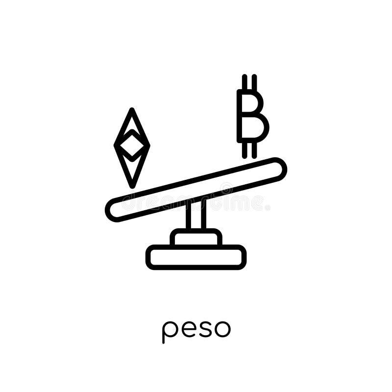Pesosymbol  vektor illustrationer