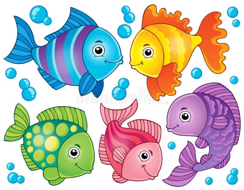 Imagem 4 do tema dos peixes ilustração royalty free