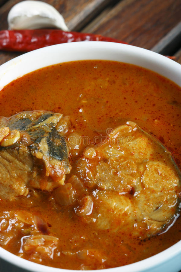 Pesque o caril de Varuthuracha - caril dos peixes do estilo de Kerala imagem de stock royalty free
